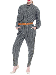 Fierce And Incredibly Glamorous Issey Miyake Jumpsuit with a Leather Belt