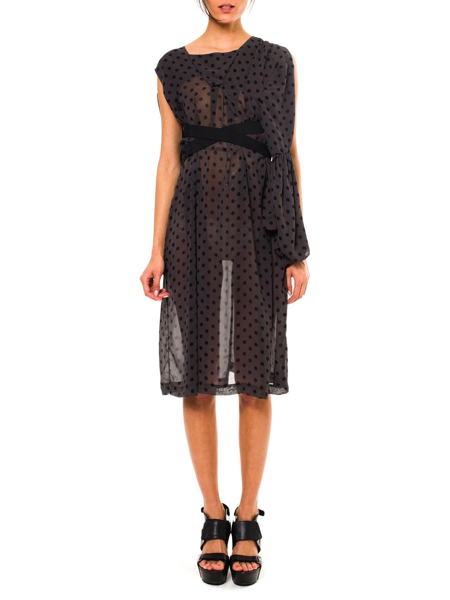 COMMES des GARCONS  Deconstructed Chiffon Dress