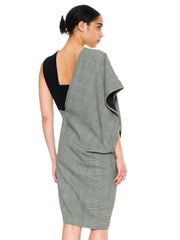 Minimal Comme Des Garcons Asymmetrical Grey Dress