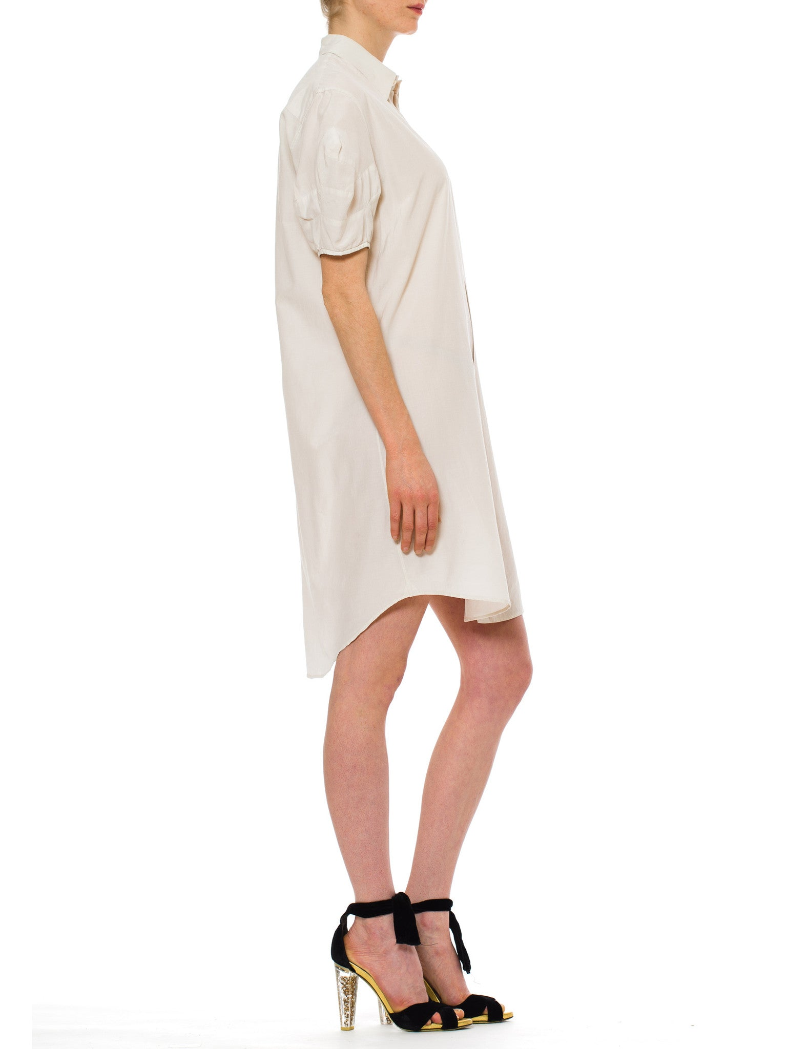 1980s Vintage Sacai White Shirt Dress