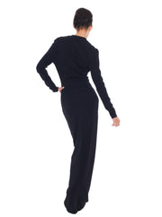 Elegant Long Black Vintage Azzedine Alaia Dress