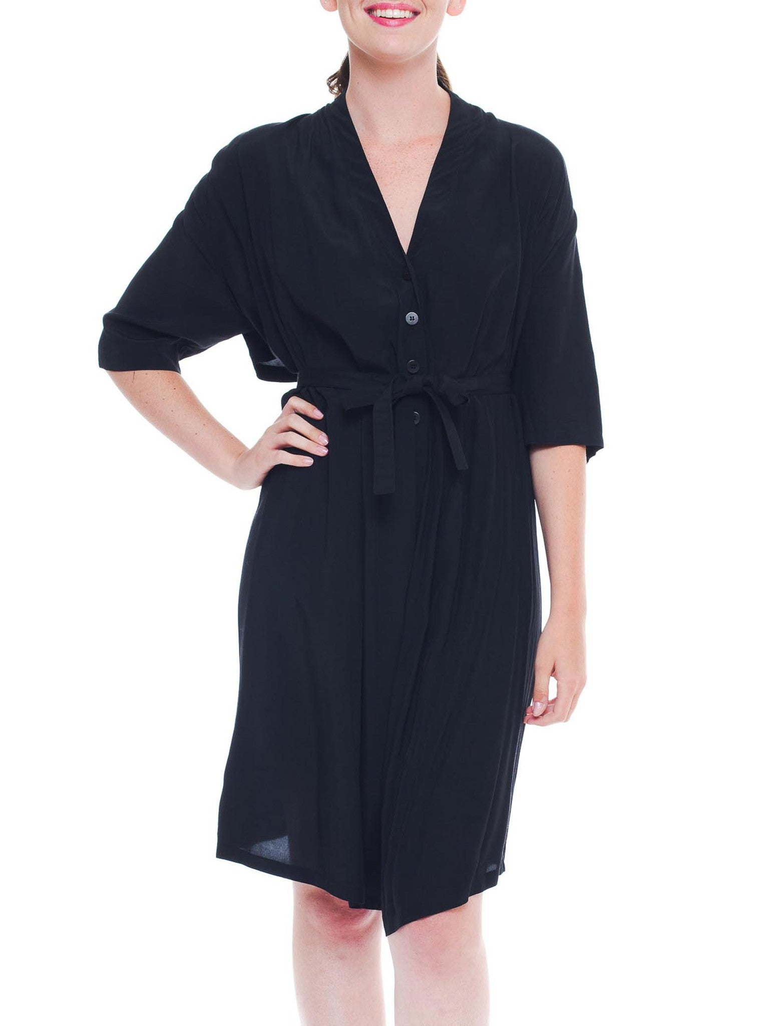 Light and Airy Ann Demeulemeester Black Romper