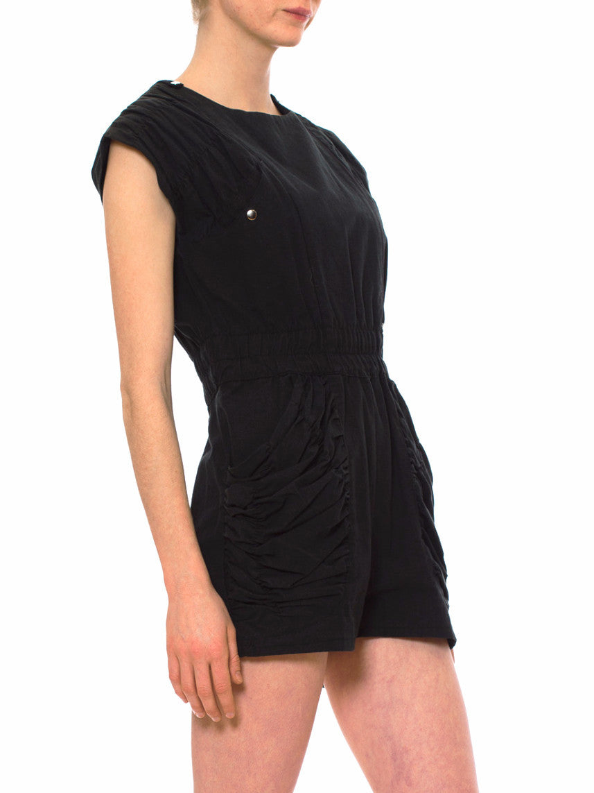 1980S Black Poly/Cotton Moto New Wave