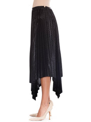 Stunningly Stylish Black Pleated Skirt by Issey Miyake