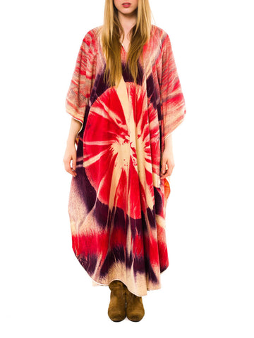 Hand Painted To Look Like Tye Dye Caftan