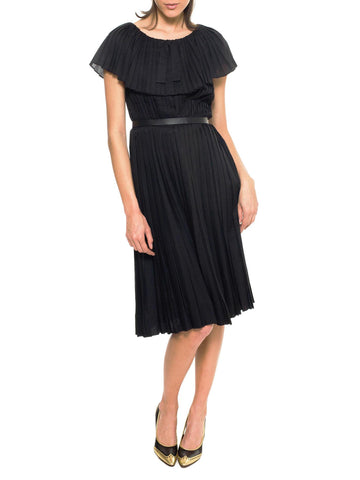 Pleated Silk LBD From Adele Simpson