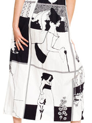 Aubrey Beardsley Printed Cotton Dress