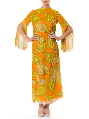 Late 1960S Malcolm Starr Layered Chiffon Dress