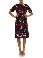 1960s Vintage Harvey Berin Red Floral Dress