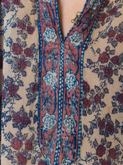1970s Judith Ann Indian Printed Silk Dress