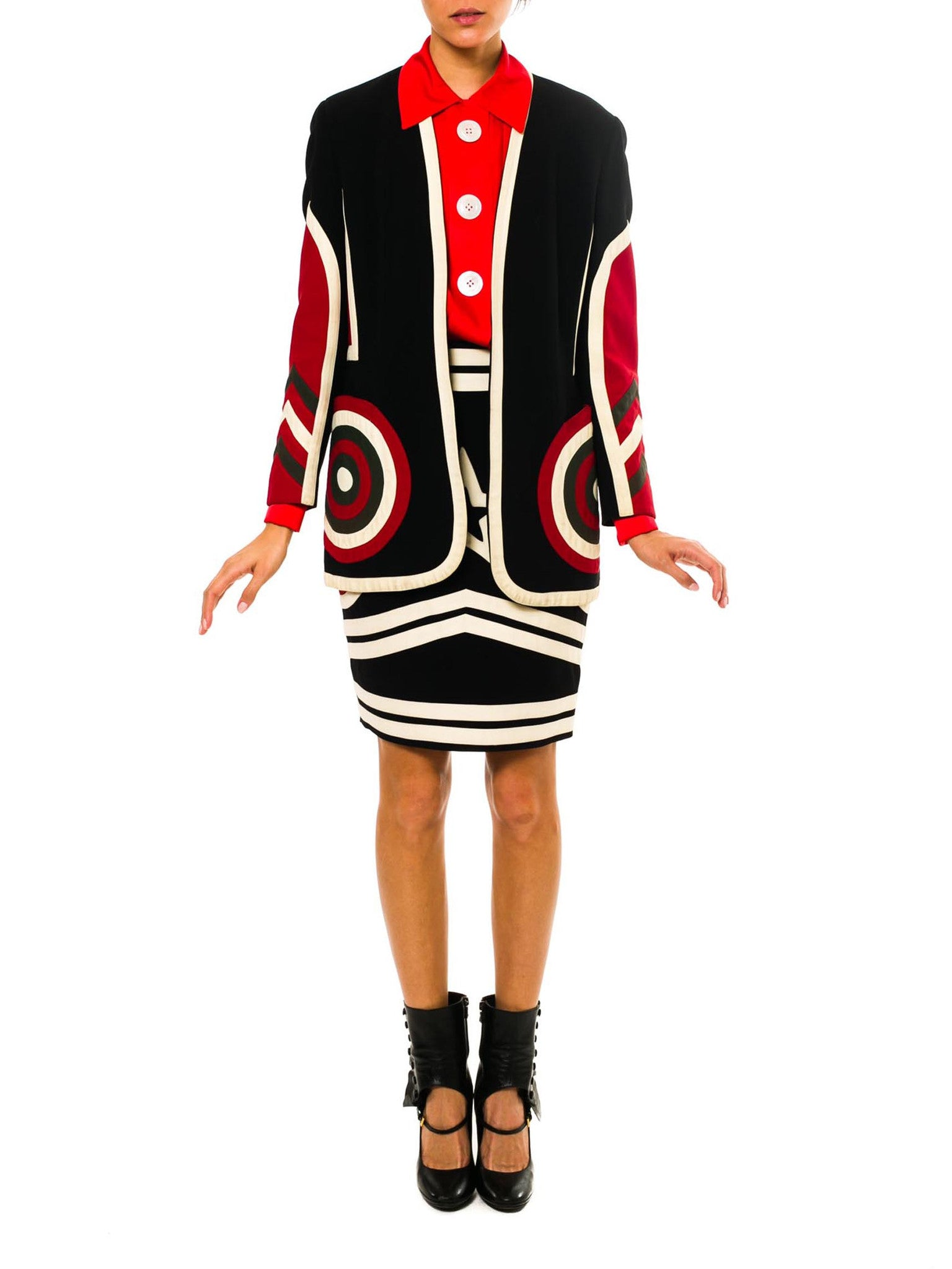 Moschino Couture! Mod Pop Art Suit