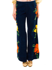Groovy Tropical Embroidered Jeans