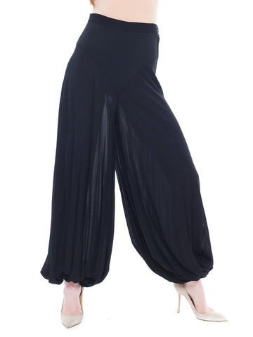 Chic Artistic And Sexy Black Harem Pants By Knightsbridge