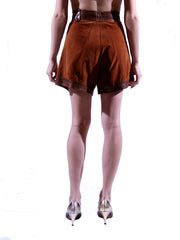 1970s Leather and Suede Shorts