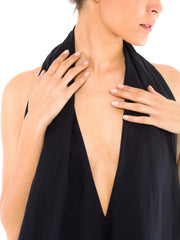 Gianfranco Ferre Silk Halter Top