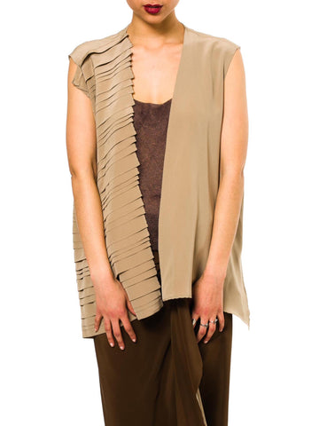 Conceptually Pleated Minimalist Vest From Gianfranco Ferré