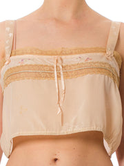 Victorian Lingerie Silk and Lace Bustier Strap Top