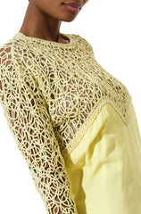 Vintage 1960s Mod Yellow Embroidered Dress
