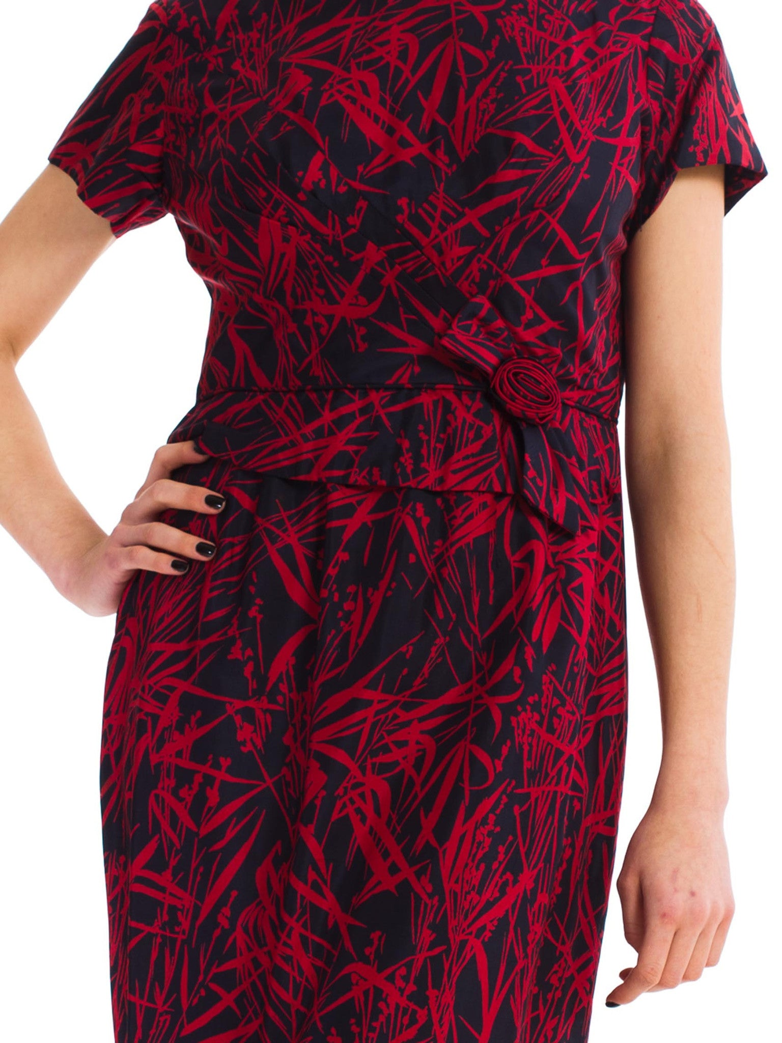 Vintage 1960s Brush Stroke Dress