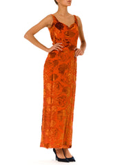 Ava Dress From The 30s In Orange