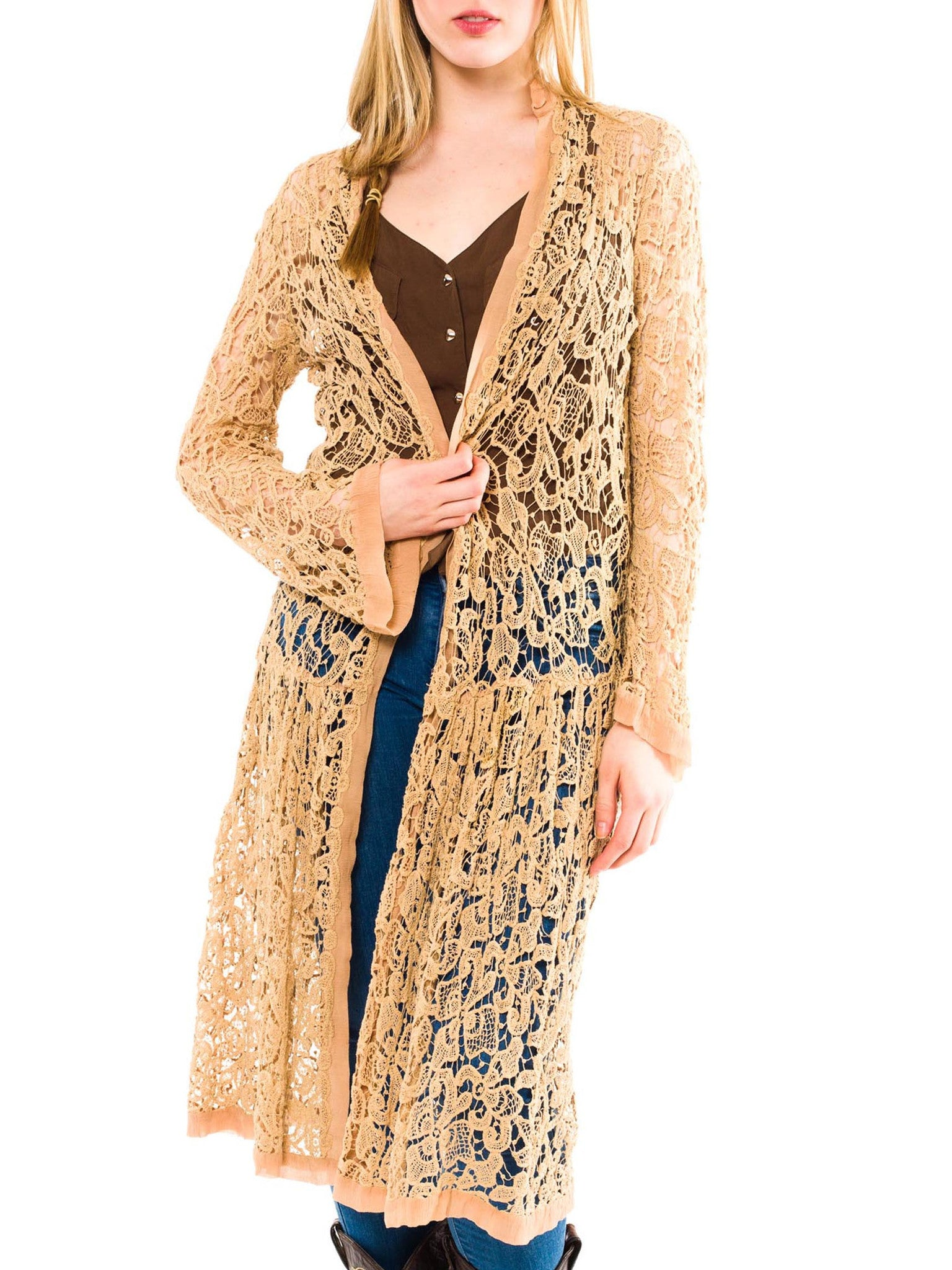 Fantastic Lace Duster Jacket From The 1920s