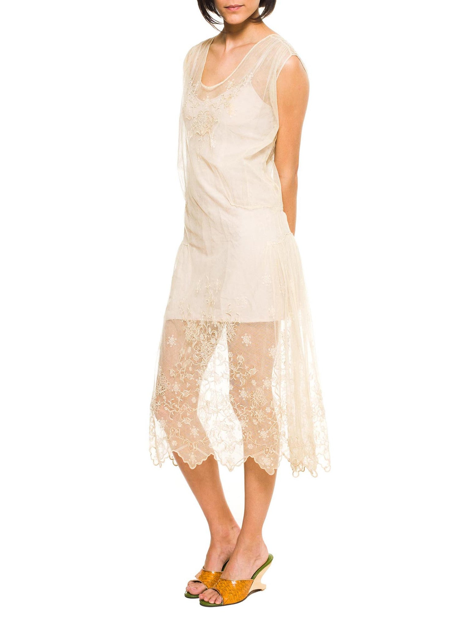Exqusite Hand Embroidered Net Dress