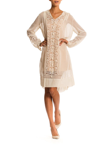 1920s BoHo Dress with Hand Made Lace Details