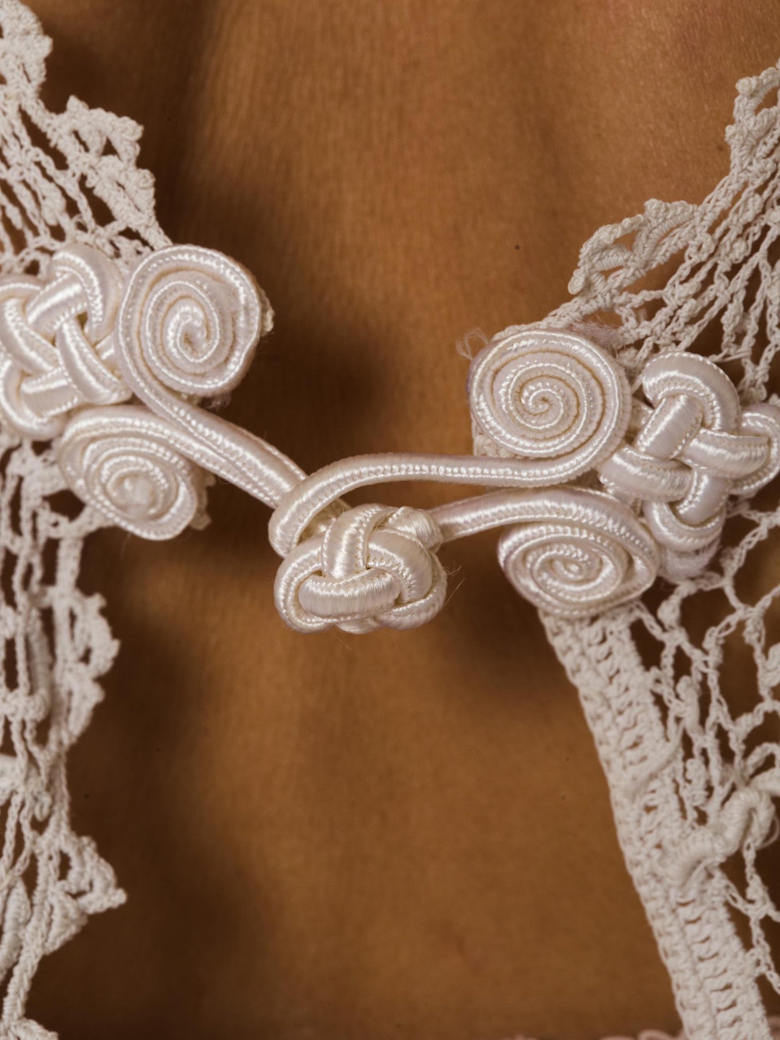 1920S  Cotton Irish Crochet Vest