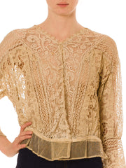 Ready To Elope Cotton Embroidered Lace Top From The 20th Century