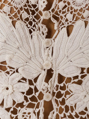 1900s Fantastic Irish Crochet Blouse