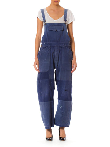 Vintage Blue Denim Overall Jumpsuit