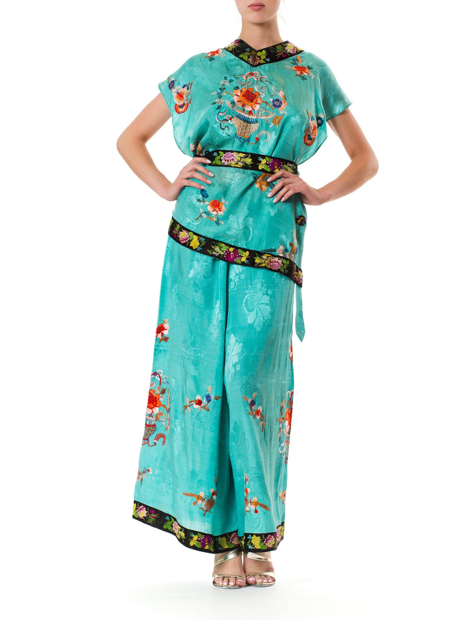 1940s Chinese Embroidered Pajamas