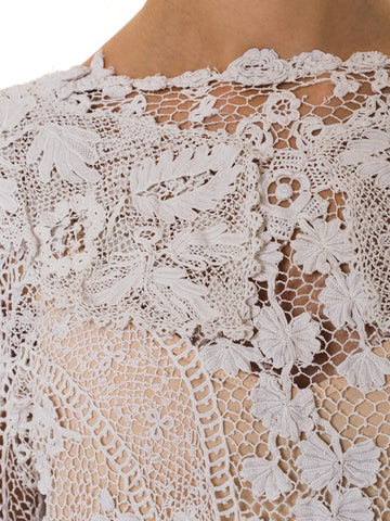 1900S Cotton  Several Period Repairs Not Noticeable When Worn. Blouse