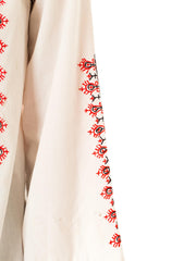 1960s Boho Hand Embroidered Peasant Blouse