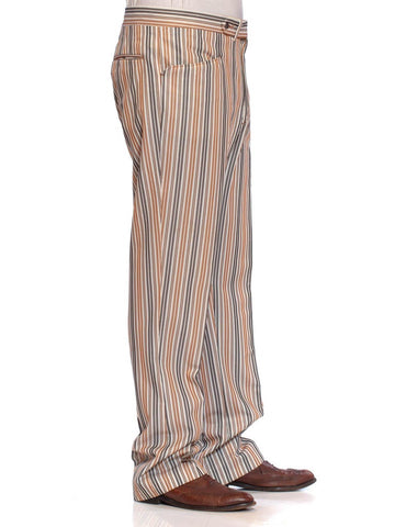 1960S GLEN OAKS Striped Polyester Men's Pants