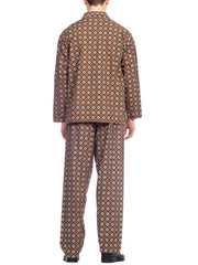 1960S Mens Medallion Print Pajamas