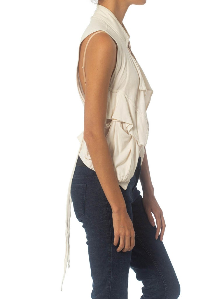 Ann Demeulemeester Cargo Pocket Draped Top | New York City | 24hrs- Free Return policy | US Free Shipping | Pre-owned Clothing | Sustainable fashion | Woman's Vintage Clothing | Vintage Tops