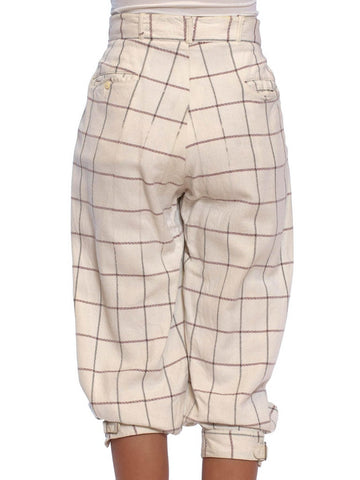 1900S Men's Edwardian Golf Plus-Four Knickers Pants