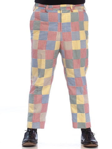 1970'S BROOKS BROTHERS Cotton Men's Patchwork Seersucker Pants XL