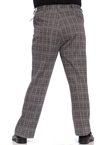 1970'S Grey & Burgundy Men's Polyester Disco Pants XL NWT