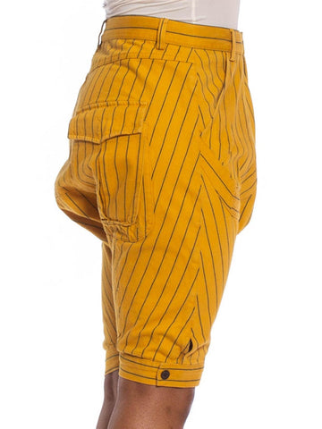 2000S Yellow Ochre Cotton Rare Early Henrik Vibskov Pants