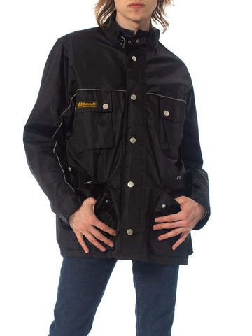 2000S BELSTAFF Black Polyester Men's Motorcycle Jacket With Removable Lining