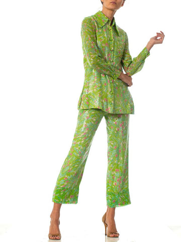 1970S Lime Green Sequined