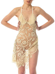 2010S Morphew Collection Creme Dress Made From 100 Year Old Handmade Lace