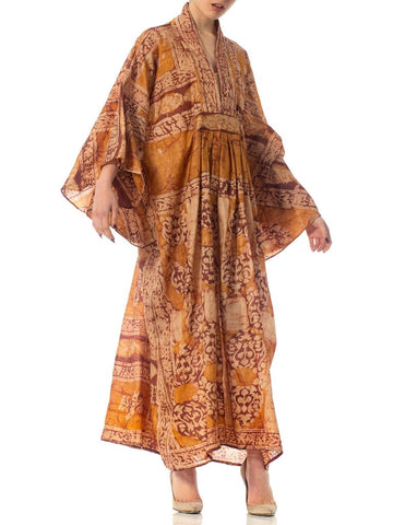 2010S Morphew Collection Hand Printed Silk Batik Kaftan