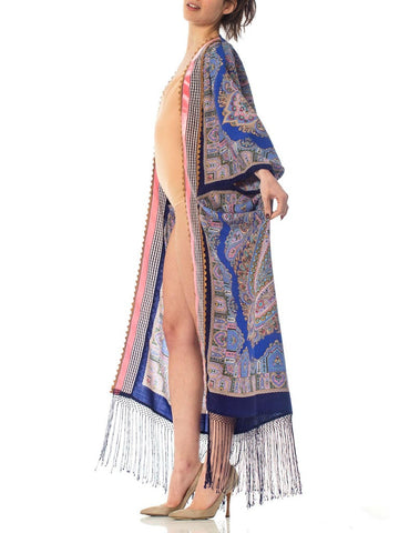 Morphew Collection Blue Paisley Wool Duster