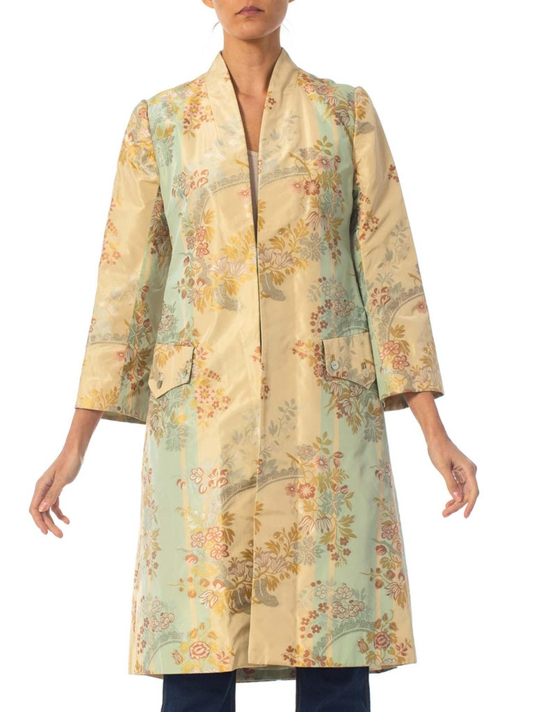 2000S Alexander Mcqueen Silk Brocade Frock Coat Jacket From The Shipwreck Collection Irere