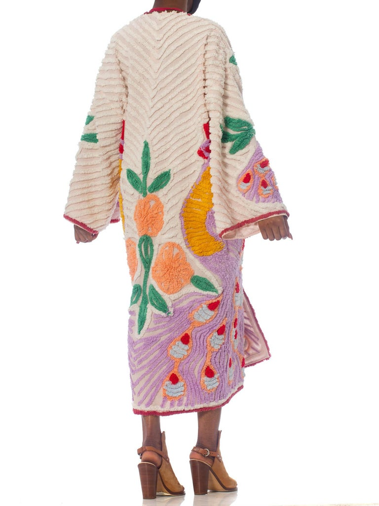 Morphew Collection Blush Pink Cotton Chenille Purple Peacock Duster