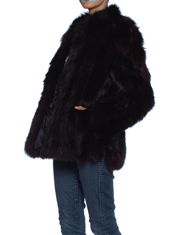 1980S SAGA FOX Dark Brown Fur Jacket