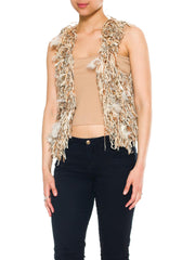 Vest Of Feathers And Fringe
